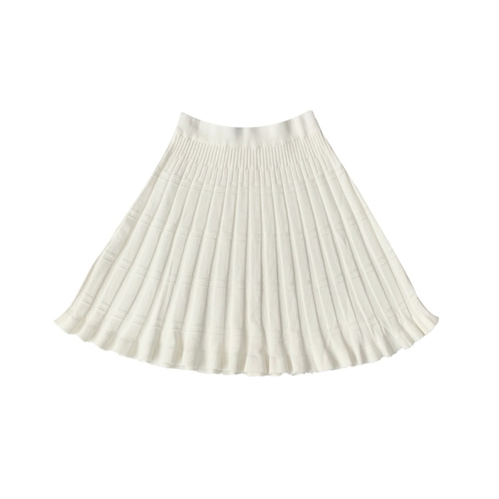 a-line embo knit midi skirts